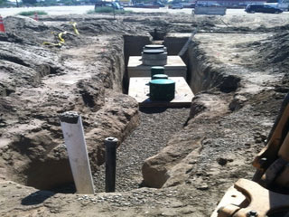 Construction site With Septic Tanks